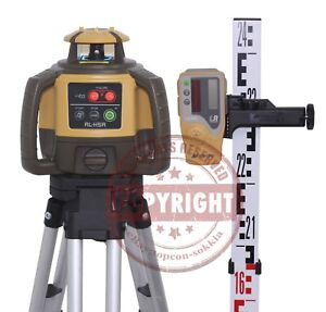 Topcon Rl h5a Self leveling Rotary Grade Laser Level Package Slope Metric