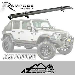 Rampage Windshield Header Channel 2007 2017 Jeep Wrangler Jk 901007 Black