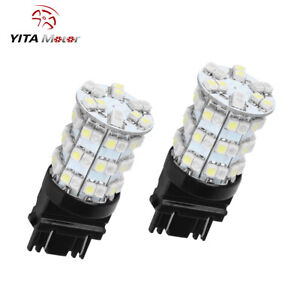 Yitamotor 2x 3157 Switchback White Amber Smd 60led Turn Signal Corner Light Bulb
