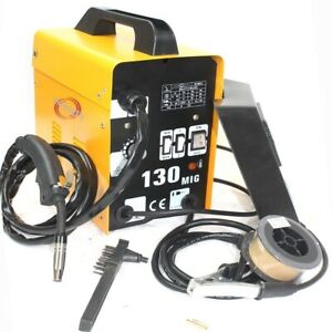 Auto Feed Mig 130 Gas less Flux Core Wire Welder Welding Machine 115v Cool Fan