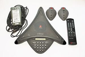 Polycom Voicestation Premier 2200 03200 001 Full Duplex Conference Phone Used