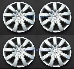 Set 4 Pcs 15 Rim Wheel Cover Hubcap Fits 2000 2016 Toyota Wheelcovers New