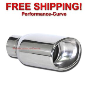 Stainless Steel Exhaust Tip Dw Oval Resonated 2 5 In 5 5 X 3 5 Out