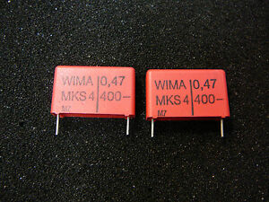 Wima Mks 4 0 47uf 400v 10 Metallized Polyester Capacitor new Qty 2