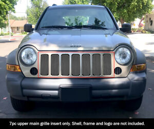 Customized For 2005 2007 Jeep Liberty Billet Premium Main Upper Grille Insert