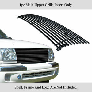 Fits 1998 2000 Toyota Tacoma Black Main Upper Billet Grille Grill Insert
