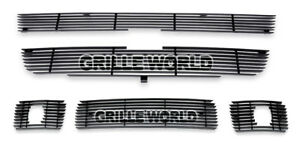 For 2004 2010 Chevy Colorado Xtreme Black Billet Premium Grille Combo