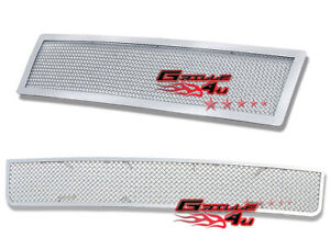 For 2007 2011 Ford Expedition Stainless Mesh Premium Grille Combo