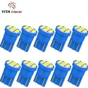 Yitamotor 10pcs Blue T10 W5w Led Instrument Cluster Interior Light Bulb 192 194