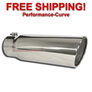 Diesel Stainless Steel Bolt On Exhaust Tip 5 Inlet 6 Outlet 18 Long