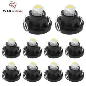 10x White T4 T4 2 Neo Wedge Led Bulb Instrument Dash Cluster Interior Light Bulb