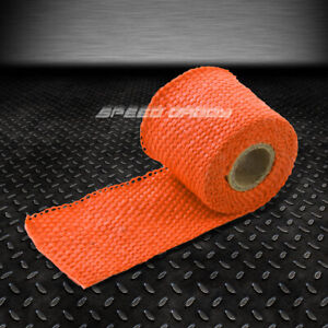5ft 60 L 2 W Header Intake Turbo Exhaust Insulating Chrome Orange Heat Wrap