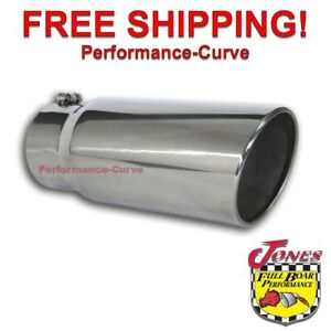 Diesel Stainless Steel Exhaust Tip 5 Inlet 6 Outlet 15 Long Bolt On