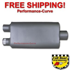 2 Chamber Performance Exhaust Muffler Full Boar Dual 2 25 In 3 Out Fb4553
