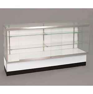 Full Vision 60 Inch Display Showcase Retail Store Fixture Assembled White New