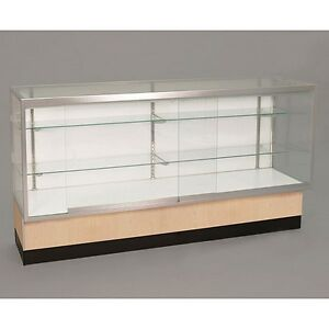 Full Vision 48 Inch Display Showcase W light Store Fixture Assembled Maple New