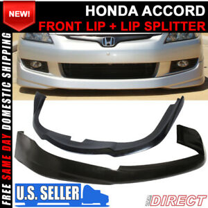 For 03 05 Honda Accord Hfp Style Front Bumper Lip Splitter Chin Lip