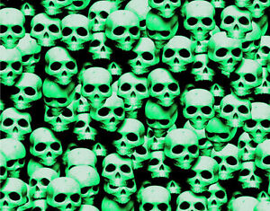 1 Large Sticker Bomb Sheet Green Skulls Jdm Honda Decal 24 X 48 3m Wrap Vinyl