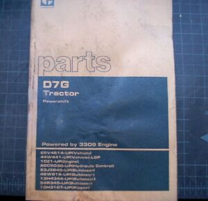 Cat Caterpillar D7g Tractor Crawler Tractor Parts Manual 65v Series Mitsubishi