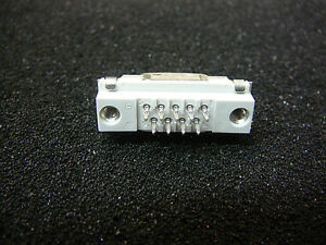 Tyco D sub Press in Male Connector With Grounding Fingers 9 pin new 1 pkg
