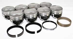 Sealed Power Chevy 350 4 000 125 Domed Pistons Moly Rings Kit Sbc Std H618cp