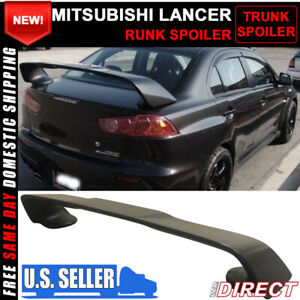 08 17 Mitsubishi Lancer Only X Original Evo Style Rear Trunk Spoiler Abs 3pc