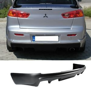 08 15 Mitsubishi Lancer Rear Bumper Lip Add On Diffuser Body Kit Poly