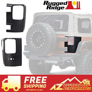 Rugged Ridge Rear Corner Guard Body Armor 07 18 Jeep Wrangler Jk 4 Door 11651 01