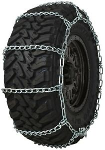Quality Chain 3229 Wide Base Non Cam 7mm Link Tire Chains Snow Suv 4x4 Truck
