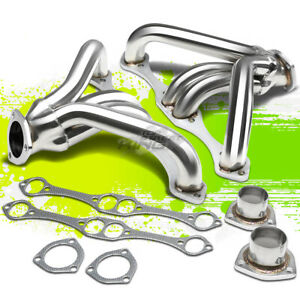 For Chevy Small Block 262 400 267 V8 Angle Plug Heads Stainless Tight Fit Header
