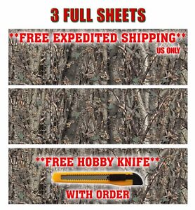 3 Camo Decals Made From 3m Wrap Vinyl 48 X15 Truck Camo Tree Print Camouflage