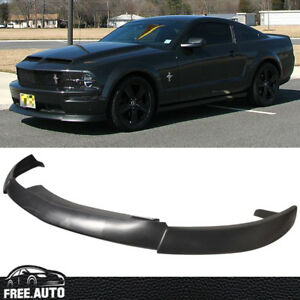 Cv Type 2 Style Black Front Bumper Lip For 05 09 Ford Mustang V8 Fits 2006 Mustang