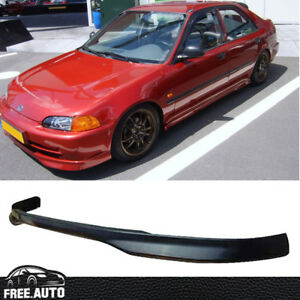 Black Pp Jdm T R Front Bumper Lip Spoiler Bodykit For 92 95 Honda Civic 4 Door