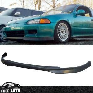 Fit For 92 95 Honda Civic Eg Hatchback Coupe Front Bumper Lip Spoiler Bodykit Pp