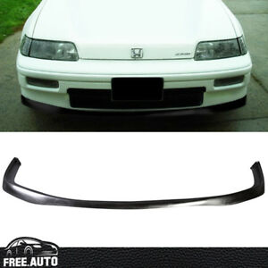 88 91 Jdm Style Pu Front Bumper Lip For Honda Crx Coupe