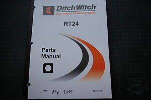 Ditch Witch Rt24 Tractor Parts Manual Book Catalog Shop Compact Trencher Wheel