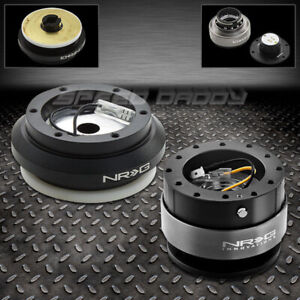 Nrg Steering Wheel Short Hub Gen 2 0 Black Quick Release Kit 96 11 Civic S2000