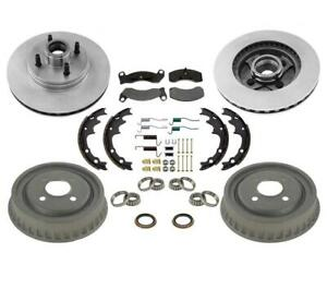 Rotors Drums Brake Pads Brake Shoes Seals Spring Kit For Ford Mustang 5 0l 87 93