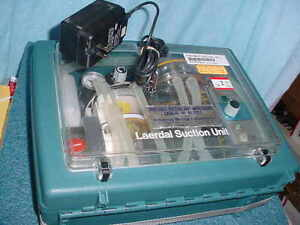 Laerdal 2357 Portable Suction Unit Amstrong Ae 7053 With Charger