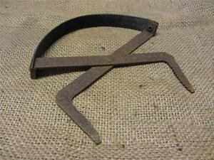 Vintage Iron Battery Carrier Tool Antique Old Farm Field Tools Primitive 8930