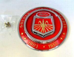 Ford Golden Jubilee Tractor Front Hood Emblem Naa16600a