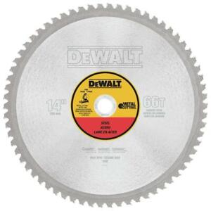 Dewalt Dwa7747 14 66t Heavy Gauge Ferrous Metal Cutting Saw Blade