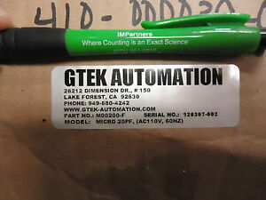 Gtek M00200 f 22 Lpm Micro 22pf Air Pump 110 Vac Brand New