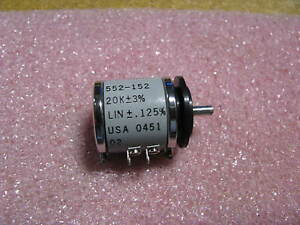 Vishey Spectrol Variable Resistor 552 152 Nsn 5905 01 130 3875