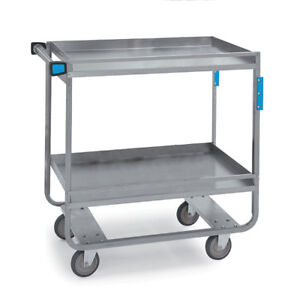 Heavy Duty Stainless Steel Carts 3 Shelves 19 Shelf Clearance 30 l X 16 25