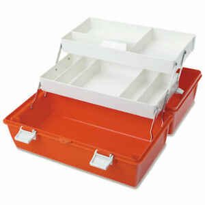 Traditional Lockable Emergency Box 17 5 w X 9 5 d X 9 h 1 Ea