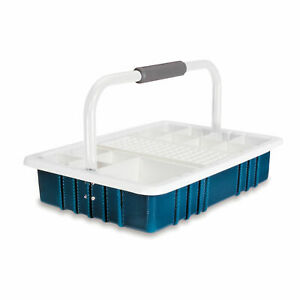 Teal Phlebotomy Tray With 13mm Test Tube Rack 1 Ea