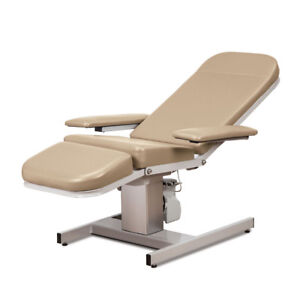 Electric Reclining Phlebotomy Blood Draw Chair Height Adjustable Desert Tan