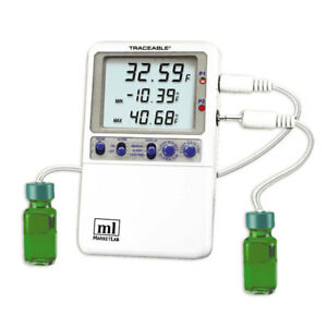 Traceable Hi accuracy 0 01 Thermometer 2 Bottle Probes 1 Ea