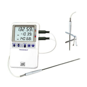 Traceable Platinum Hi accuracy Thermometer Handle Probe Model 1 Ea